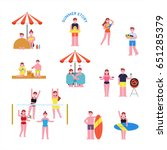hot summer swimming people... | Shutterstock .eps vector #651285379