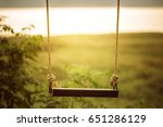 children swing in the park ... | Shutterstock . vector #651286129