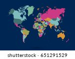 world map countries vector on... | Shutterstock .eps vector #651291529