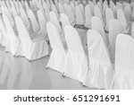 Chair With White Cover Cloth...