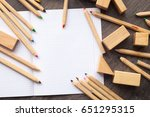 design concept with wooden...   Shutterstock . vector #651295315