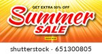 summer sale template vector... | Shutterstock .eps vector #651300805