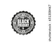 black friday grunge stamp with... | Shutterstock .eps vector #651308467