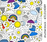 seamless pattern with colorful... | Shutterstock .eps vector #651314089