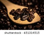 coffee bean background | Shutterstock . vector #651314515