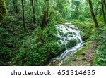 natural cliff waterfall  | Shutterstock . vector #651314635