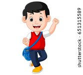 vector illustration of cute boy ... | Shutterstock .eps vector #651315589
