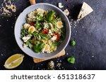 healthy groats salad with... | Shutterstock . vector #651318637