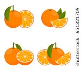 the icon  orange or mandarin.... | Shutterstock .eps vector #651321709