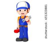 vector illustration of mechanic ...   Shutterstock .eps vector #651323881