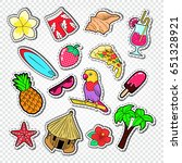 hello summer doodle. beach... | Shutterstock .eps vector #651328921