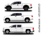 realistic car. pickup set. | Shutterstock .eps vector #651335515