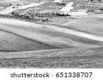 Stubble Fields On The Hills Of...