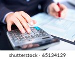 business woman working with... | Shutterstock . vector #65134129