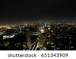 view at rooftop thailand at... | Shutterstock . vector #651343909