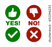 yes and no check mark | Shutterstock .eps vector #651346231