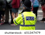 british police officers in high ... | Shutterstock . vector #651347479
