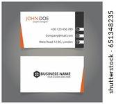 white  orange and black... | Shutterstock .eps vector #651348235