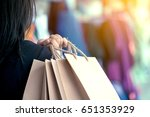 woman hand holding shopping