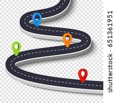 winding road isolated on a...   Shutterstock .eps vector #651361951