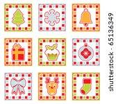 square retro christmas... | Shutterstock .eps vector #65136349