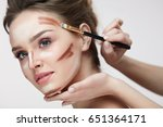 beauty makeup. portrait of... | Shutterstock . vector #651364171