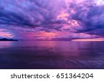 beautiful sunset reflected in... | Shutterstock . vector #651364204