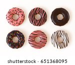 glazed donuts or doughnuts set... | Shutterstock . vector #651368095