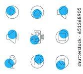 vector illustration of 9 music... | Shutterstock .eps vector #651368905