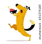 natural food for dog. a... | Shutterstock .eps vector #651374185