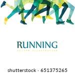running marathon  people run ... | Shutterstock .eps vector #651375265