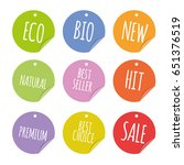 colored round badges stickers... | Shutterstock .eps vector #651376519