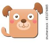 cute square dog. vector...