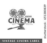 cinema label isolated on white... | Shutterstock .eps vector #651380839