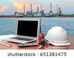 engineering industry concept in ... | Shutterstock . vector #651381475