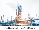 close up industrial view at oil ... | Shutterstock . vector #651381679