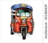 sketch of transportation city...   Shutterstock .eps vector #651382639