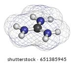 guanidinium cation. protonated... | Shutterstock . vector #651385945