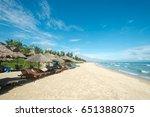 ang bang beach  hoi an  vietnam | Shutterstock . vector #651388075