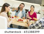 view at young people have a...   Shutterstock . vector #651388399