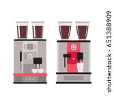 coffee machine set isolated on... | Shutterstock .eps vector #651388909