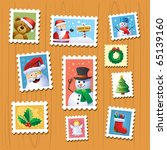 christmas stamps | Shutterstock .eps vector #65139160