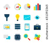 big data objects. business... | Shutterstock .eps vector #651392365