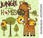 jungle is our home  vector... | Shutterstock .eps vector #651393181