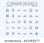 transport vector icons set.... | Shutterstock .eps vector #651393277