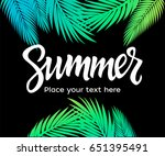 summer   vector postcard ... | Shutterstock .eps vector #651395491