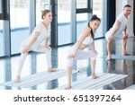 girls in white clothes doing... | Shutterstock . vector #651397264