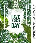 vertical frame  realistic full... | Shutterstock .eps vector #651397519