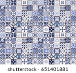 blue portuguese tiles pattern   ... | Shutterstock .eps vector #651401881