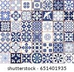 blue portuguese tiles pattern   ...   Shutterstock .eps vector #651401935